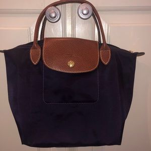 NWOT Purple Longchamp tote with small handles